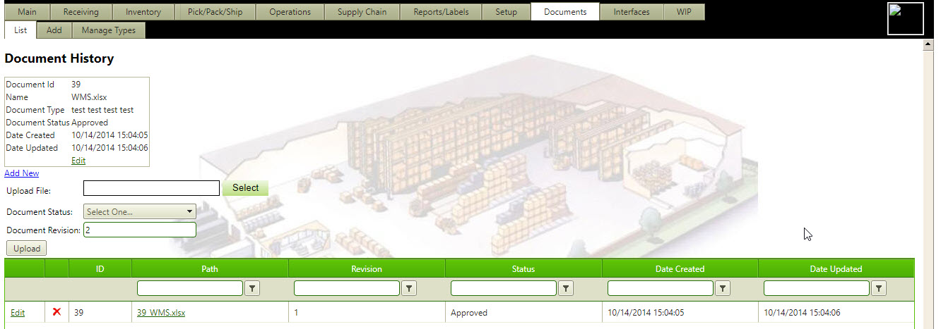 Document Management - NorthStar Automation | Warehouse